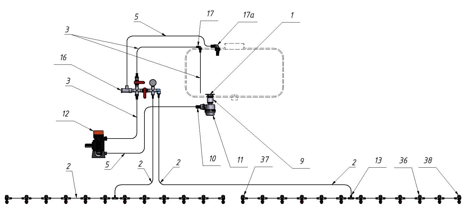 Схема подключения АМКР 9