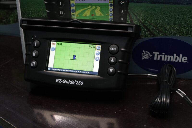 trimble ez-guide 250 turn on